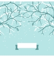 Winter background design with stylized tree vector image vector image