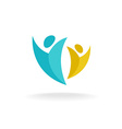 People rise logo vector image