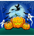 halloween theme pop art vector image