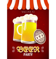 Beer party flyer vector image