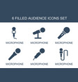 audience icons vector image vector image