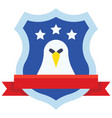 award shield with eagle symbol united state vector image vector image