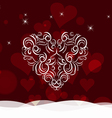 Background with ornament heart by valentines day vector image vector image