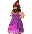 bearded lady vector image vector image