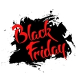Black friday - handmade lettering vector image