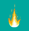 burning fire or campfire vector image vector image