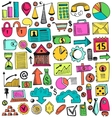 Camping doodle set vector image vector image