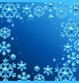 card with crystal snowflakes vector image vector image