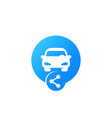carsharing icon for web car and share sign vector image vector image