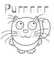 Cartoon smiling kitty caressing missed kitten vector image vector image