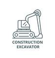 construction excavator line icon vector image vector image