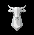 cow head polygonal white model vector image vector image
