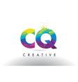 cq c q colorful letter origami triangles design vector image vector image