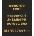 cute colorful kind monster font Every vector image vector image