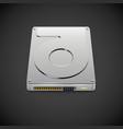 Data Storage Hard Disc Drive Icon vector image