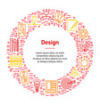 design thinking banner card circle vector image vector image