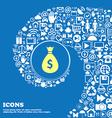 dollar money bag icon Nice set of beautiful icons vector image