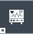 electrocardiogram related glyph icon vector image