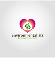 environmentalist logo template vector image