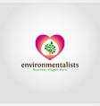 environmentalist logo template vector image vector image