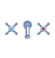 faucet cartoon icon vector image vector image