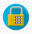 Flat icon for padlock vector image