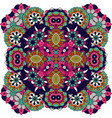 floral decorative ornamental badge vector image vector image