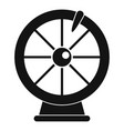 fortune wheel icon simple style vector image vector image