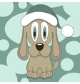Funny dog in hat vector image