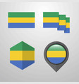 gabon flag design set vector image