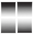 Halftone effect backgrounds vector image vector image