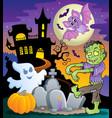 halloween topic scene 1 vector image vector image