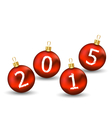 Happy new year in glass ball on white background vector image vector image