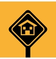 house repair sign design graphic vector image