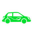 icon green electric cars vector image vector image