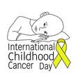 international childhood cancer day child vector image vector image