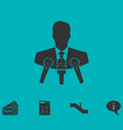 interview icon flat vector image vector image