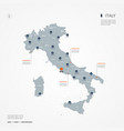 italy infographic map vector image