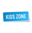 kids zone square sticker on white vector image vector image