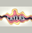 layers background vector image