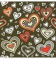 Military pattern with hearts vector image