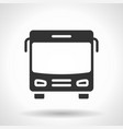 monochromatic bus icon with hovering effect vector image vector image
