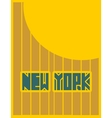 New York city name Creative Typography Poster vector image vector image