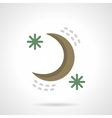 Night sky flat color design icon vector image vector image
