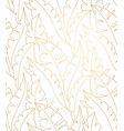 palm leaves gold pattern leaves seamless vector image