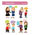 People conversations with speech bubbles vector image