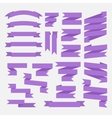 Purple ribbons set vector image vector image