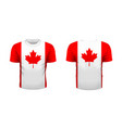 realistic sport t-shirt with canada flag from vector image vector image