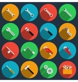 Repair icons in modern flat style vector image