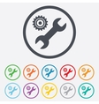 Repair tool sign icon Service symbol vector image vector image